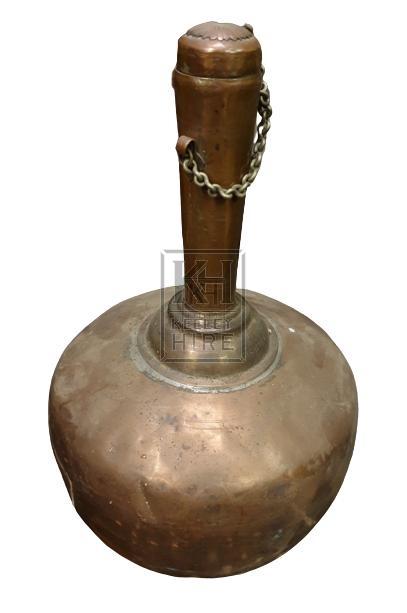 Bulbous copper bottle