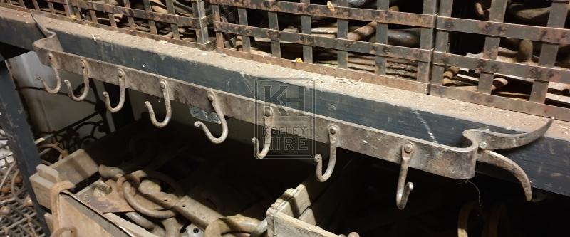 Iron row of hooks