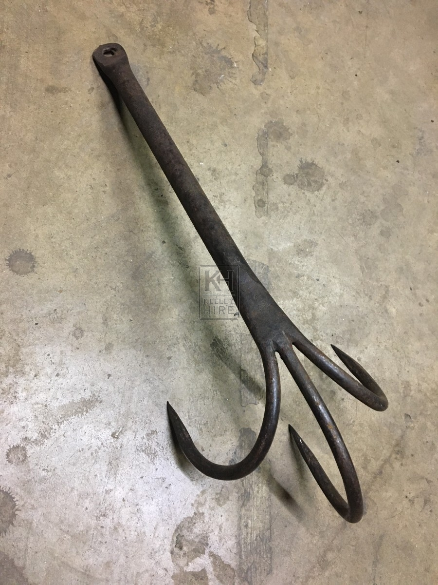 Tri-Prong Steel Grapple