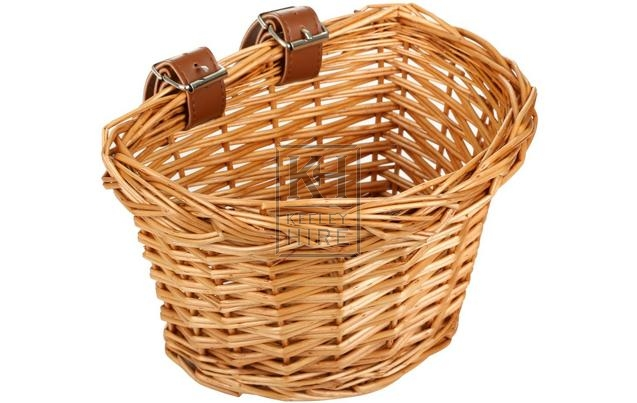 Bicycle wicker basket