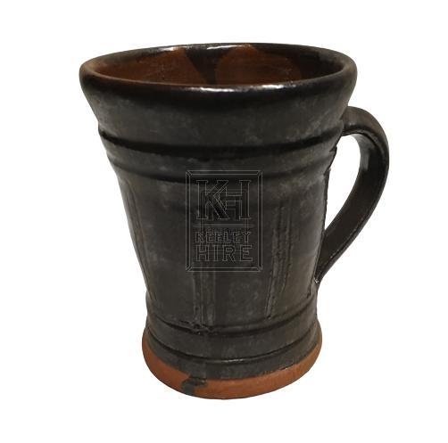 Black ceramic tankard