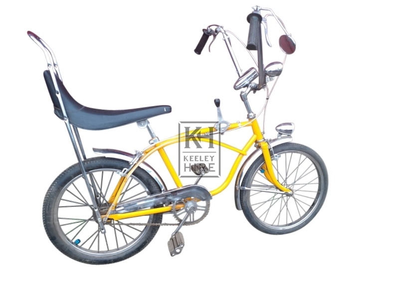 Yellow retro childs bicycle