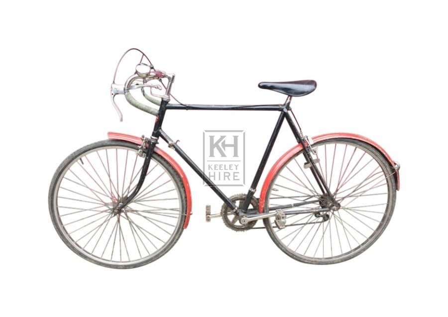 Black & red racing bicycle
