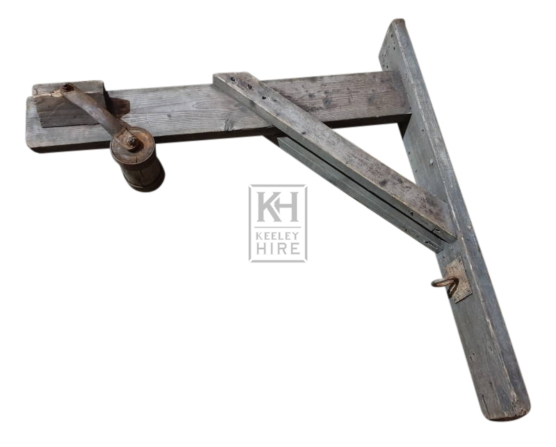 Large wood pulley bracket
