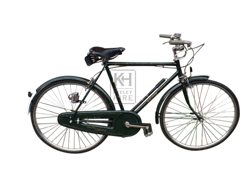 Dark green period bicycle