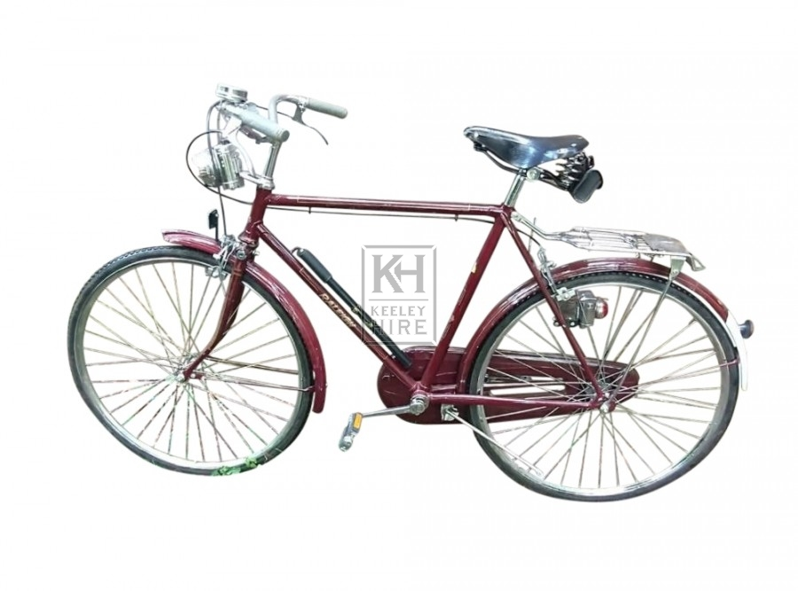 1960s red Raleigh bike
