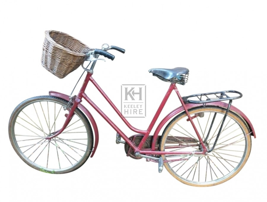 Red burgundy ladies bicycle
