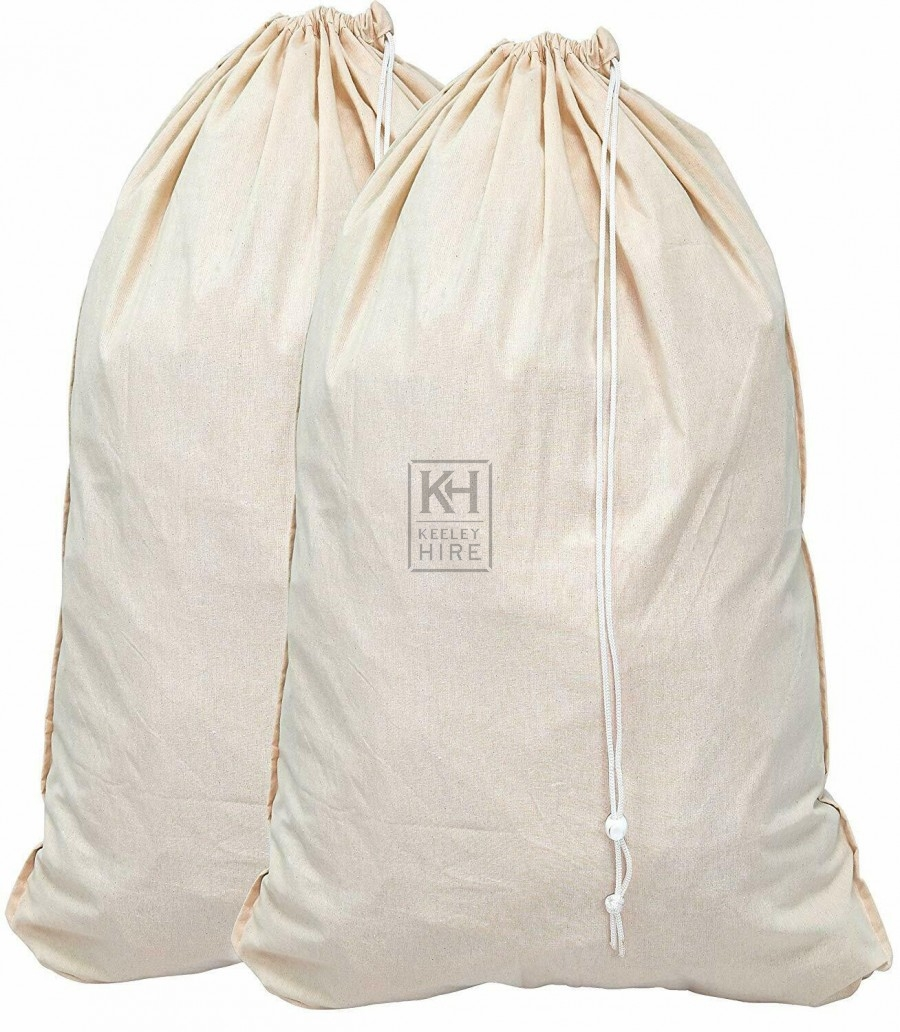 Large linen laundry sack