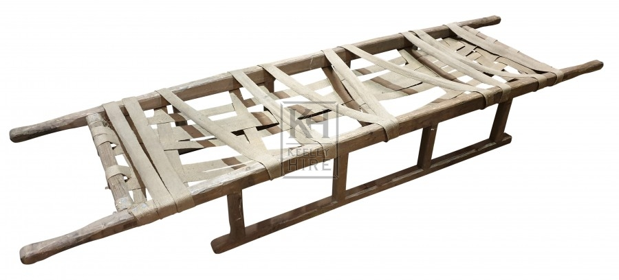 Wood strapped stretcher