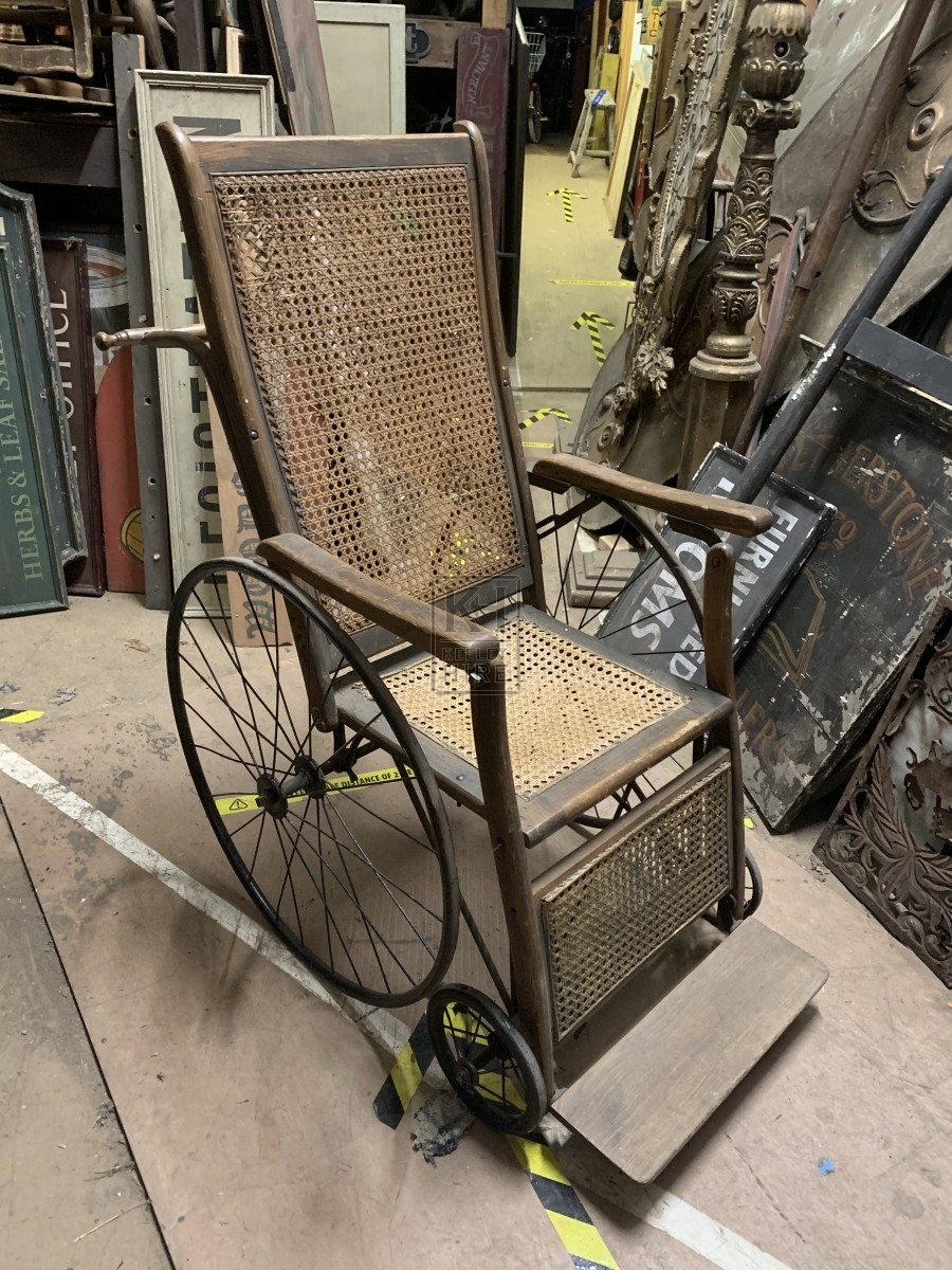 Period Aged Rattan Wheelchair