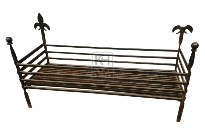 Large 4ft iron fire basket