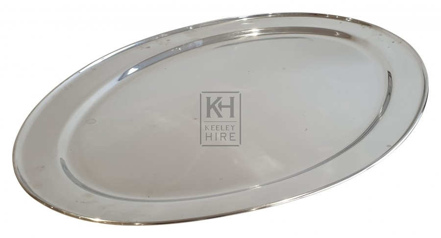 Large silver oval plate