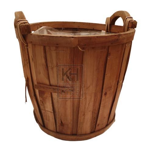 Wood fruit tub
