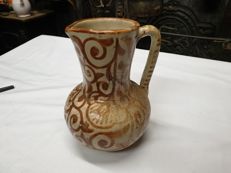 Painted pottery jug