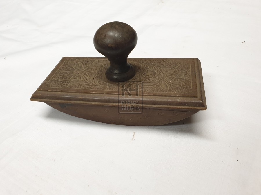 Wood stamp with handle