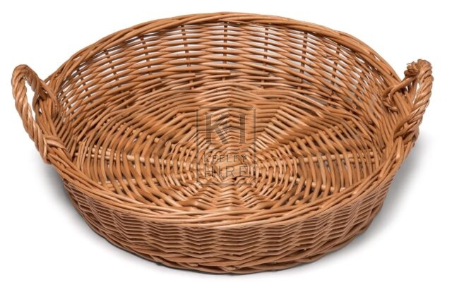Small round wicker 2-handle basket