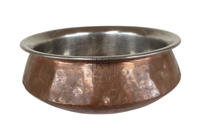 Copper shaped bowl