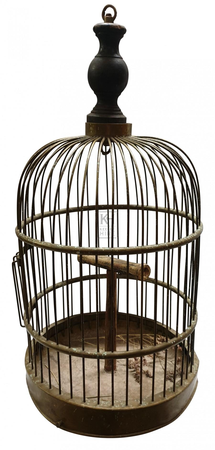 Copper dome bird cage