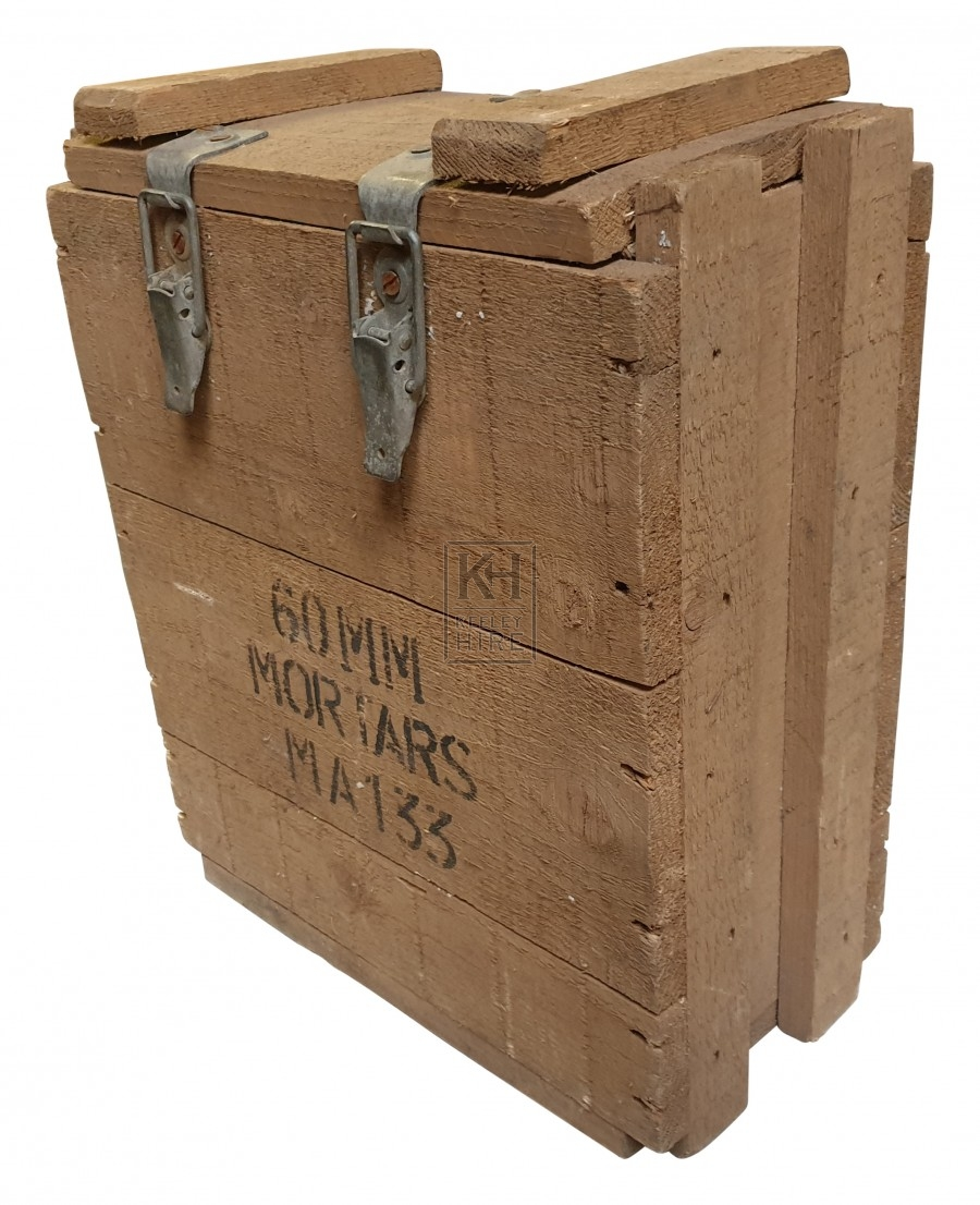 60mm mortar wood crate