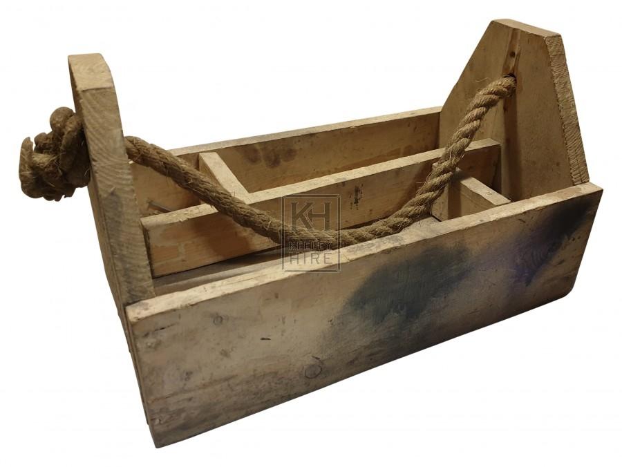 Timber made tool box & rope handle