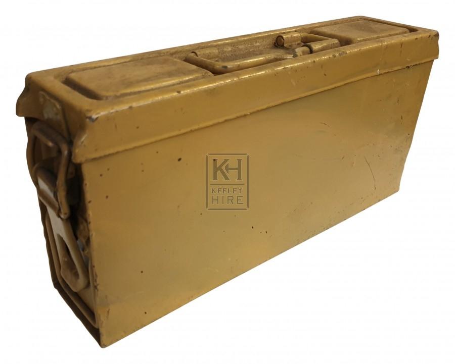 Thin metal ammo crate - desert