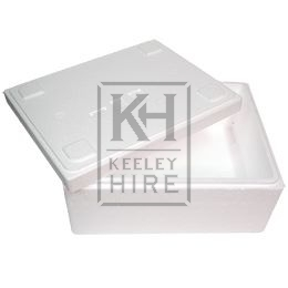 White polystyrene box