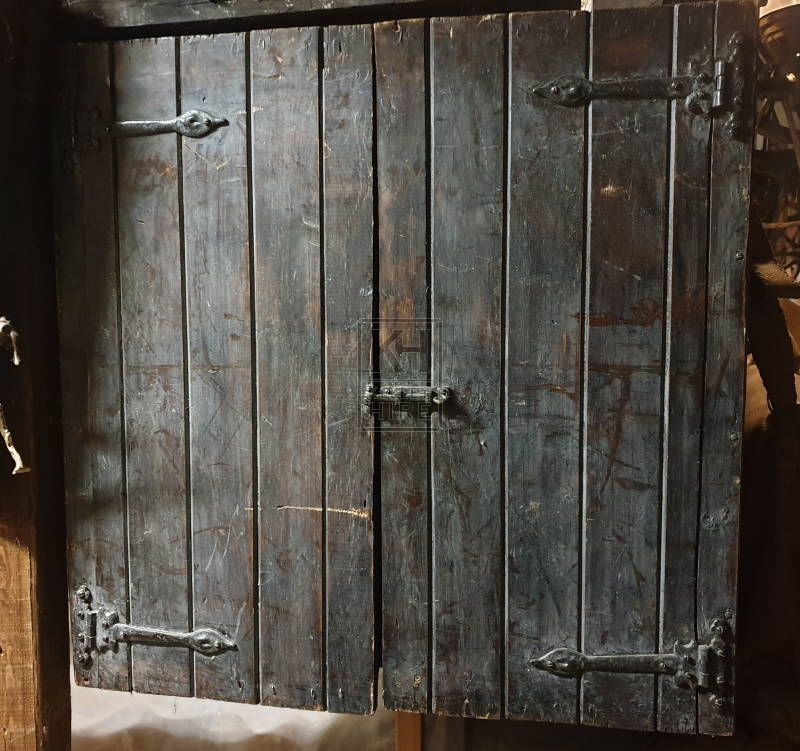 Dark wood wall cupboard