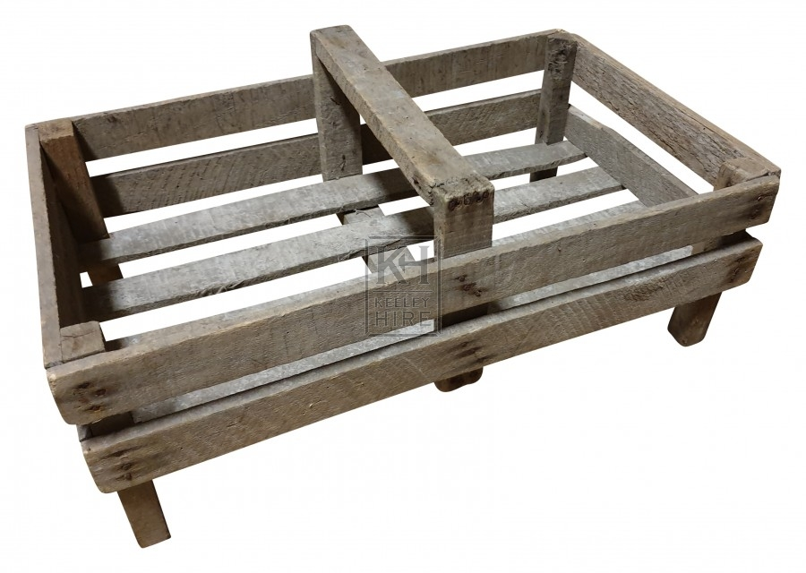 Slatted wood trug