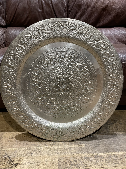 Large Ornate Silver Platter Plate