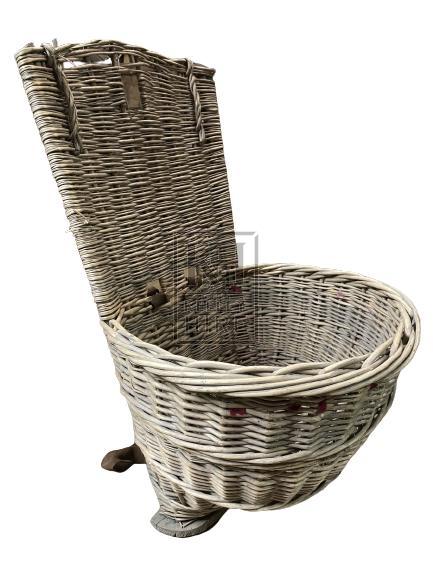 Wicker Back Basket