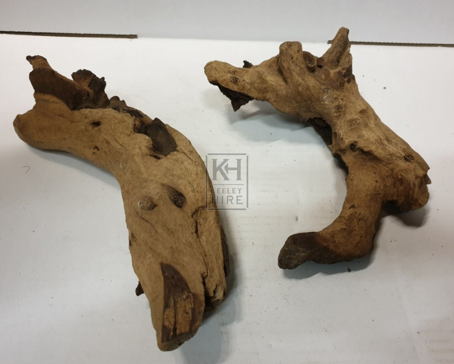 Small dried drift wood