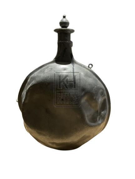 Large Pewter Water Flask
