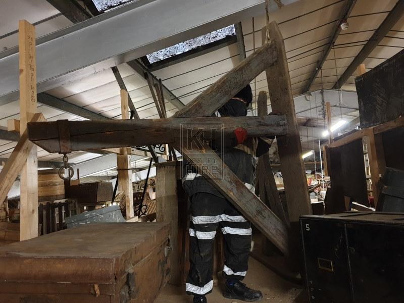 Very large wood dock bracket