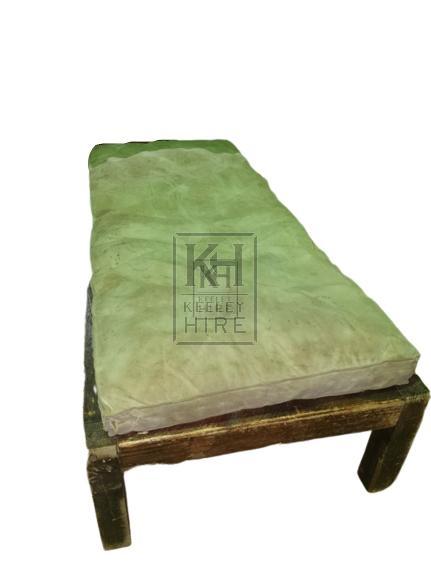 Grey old mattress