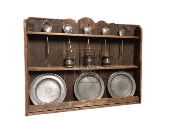 Wood wall plate & spoon rack