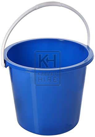 Plastic bucket assorted colours