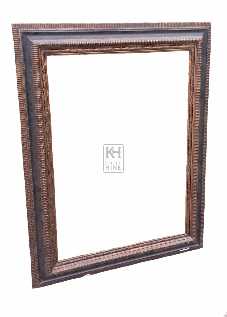 Very large carved wood frame