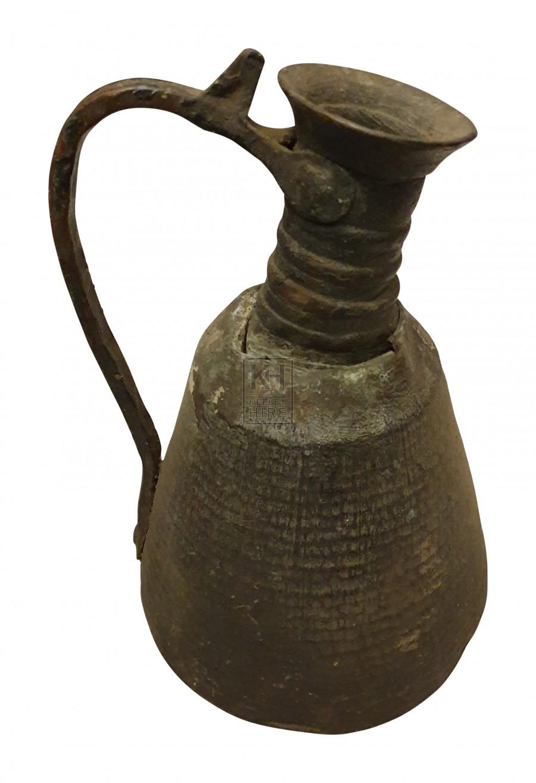 Beaten copper jug