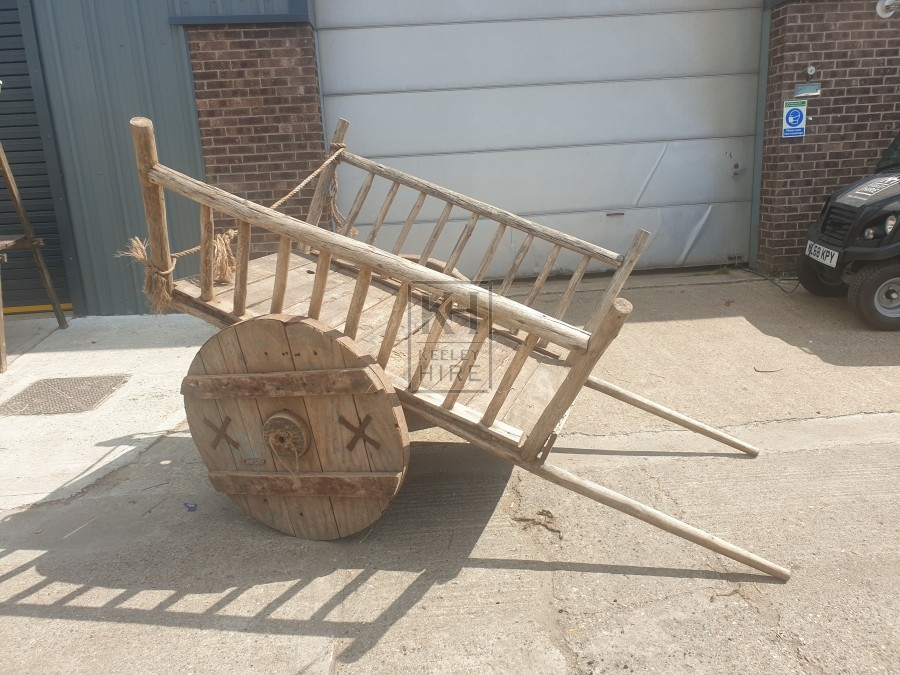 Solid wheel early cart with 2 handles