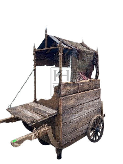 Early box cart with sloped roof