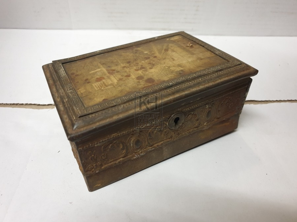 Small worn ornate box