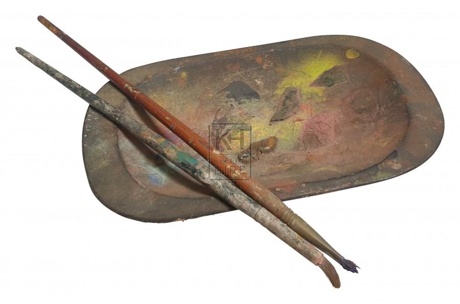 Oval wood plate