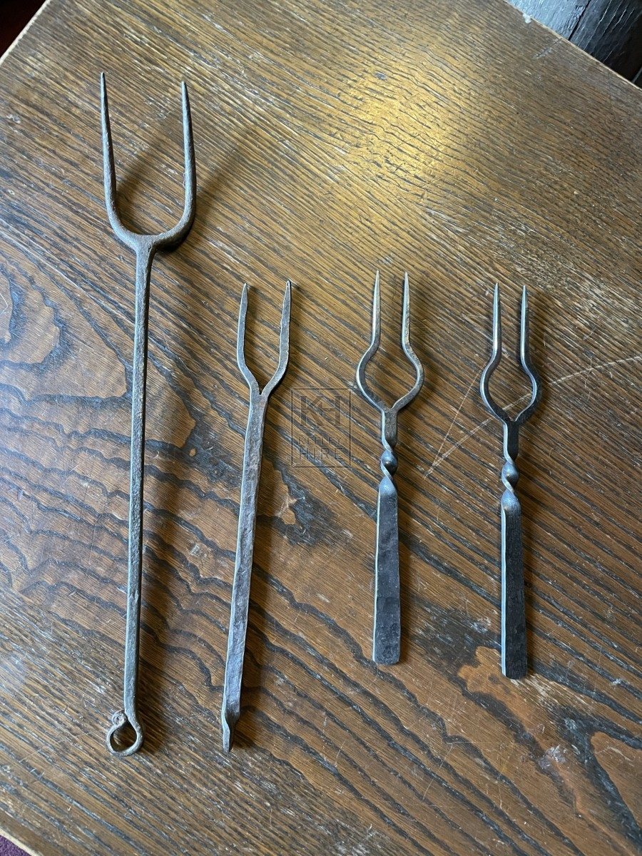 Assorted Iron 2 Prong Fork