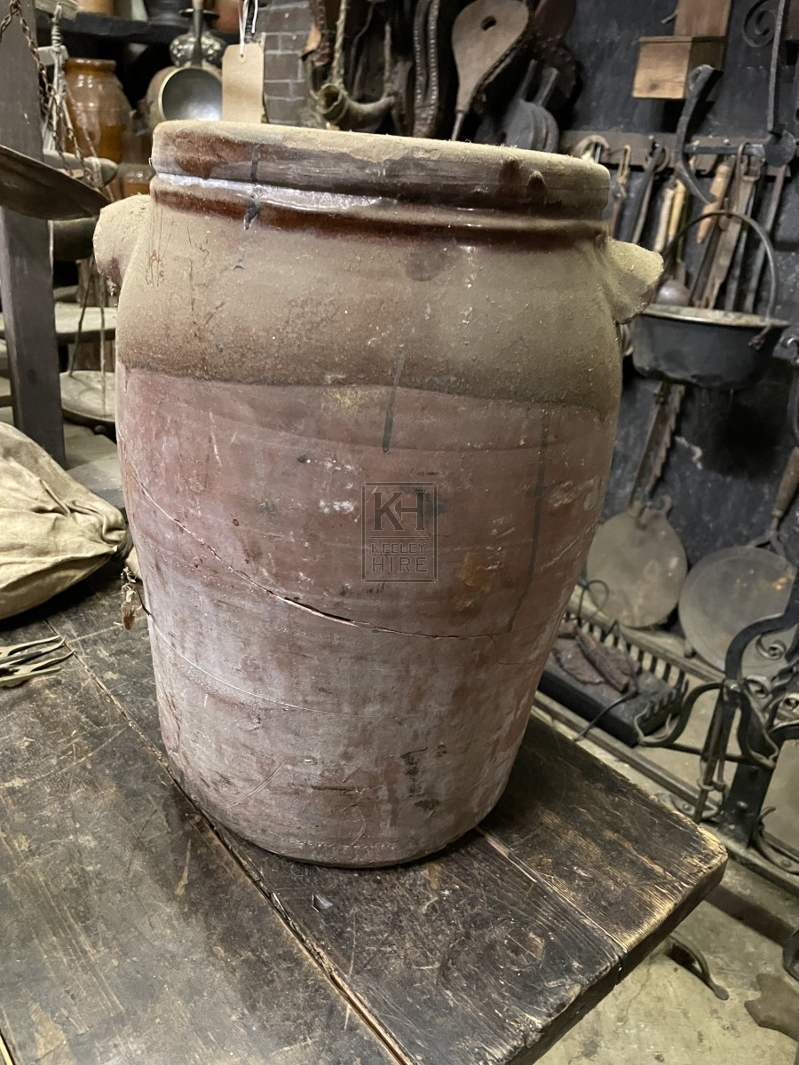 Large Pottery Jar With Handles
