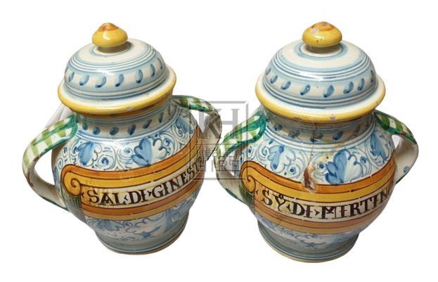 China decorated apothecary jar