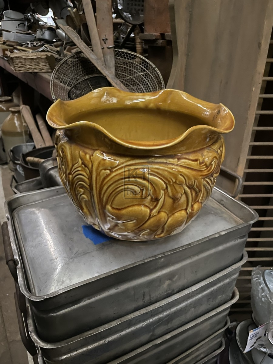 Yellow Floral Vase