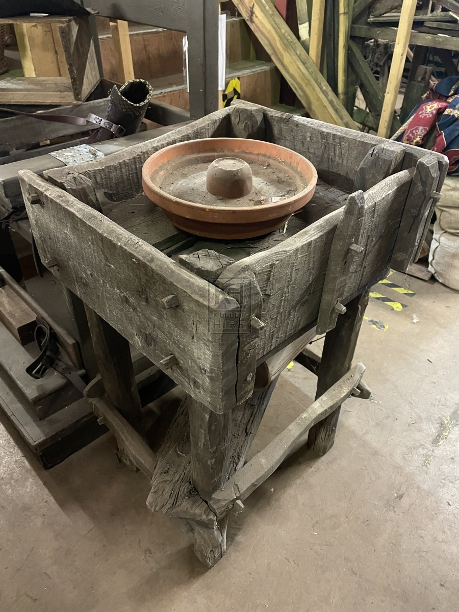 Rustic Potters Wheel