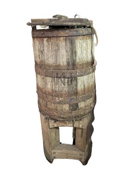 Upright Barrel Stand & Barrel