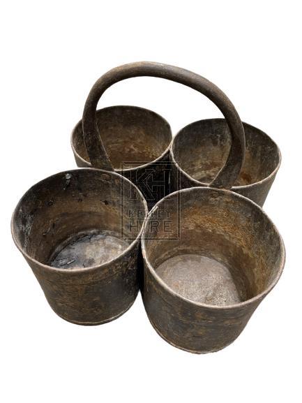 Metal Quad Pot With Handle