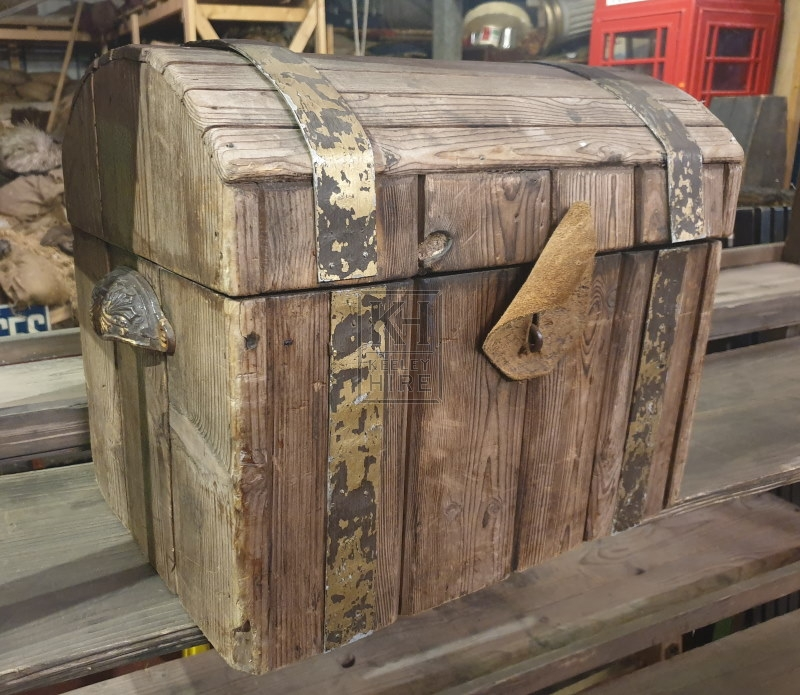 Small dome top wood chest